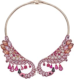 Pink Flamingo Hinge Collar Necklace