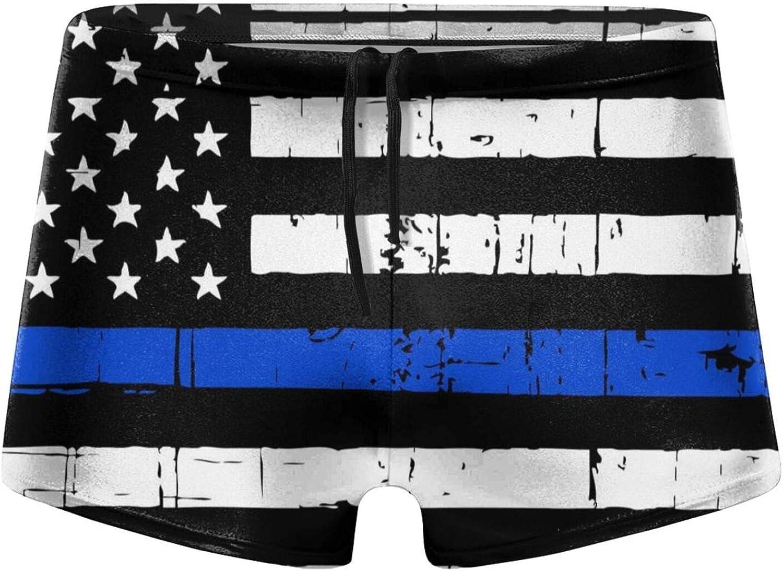 Max 61% OFF TGUBJGV American Blue Line Flag Briefs New life Men's Boxer Swim Swimwear