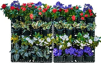 Expandable Green Wall w/Built-in Micro dripper 4 Panels, Total of 32 pots, US Patented; BPA Free Planters