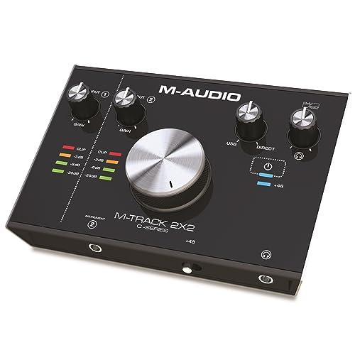 M-Audio M-Track 2x2 - Interface Audio USB-C high-speed 2 Canaux Haute Résolution + Série de Logiciels de Musique Inclus