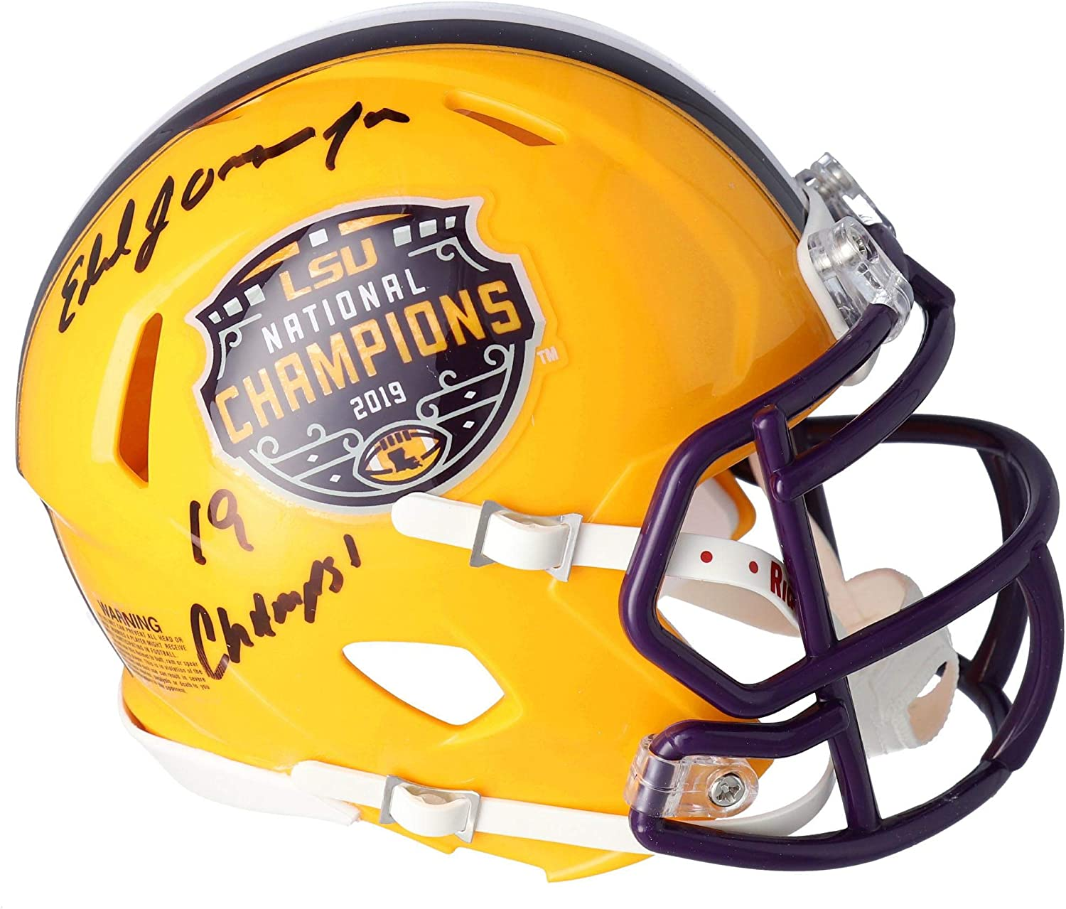 Ed Orgeron LSU Ranking TOP16 Max 79% OFF Tigers Autographed Football 2019 College Playoff