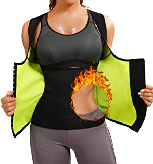 Scarboro Hot Neoprene Sauna Waist Trainer Vest for Women Workout Sweat Body Shape Slim Corset Zipper Tank Tops Suna لباس لاغری