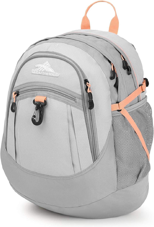 High Sierra Fatboy Backpack, Silver Ash Sand Pink
