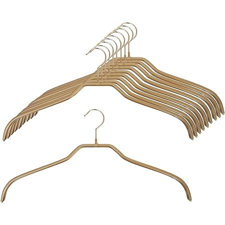 清水産業 MAWA レディースハンガー 10本組 ゴールド 40×20×1cm(1本あたり)