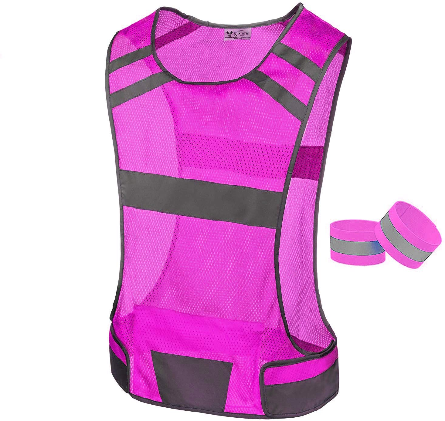 247 Viz Reflective Running Charlotte Mall Vest Safety High - NEW before selling ☆ Visibility Ve Gear