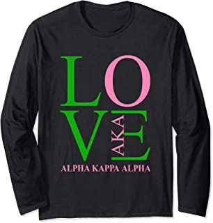 AKA shirt Love, Sorority gift, Alpha Kappa AKA paraphernalia Long Sleeve T-Shirt