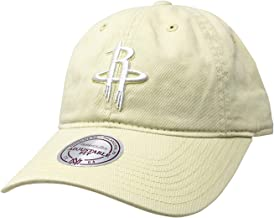 Mitchell & Ness Houston Rockets Adjustable Snapback Hat NBA Basketball Flat & Curve Bill Baseball Cap