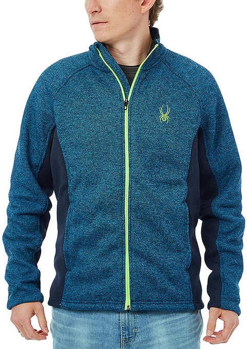 Spyder Men's Foremost Full Zip Jacket (M, Blue)
