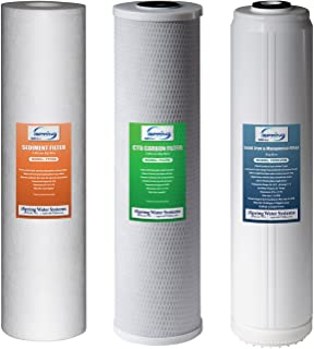 iSpring F3WGB32BPB Replacement Filter Pack for 3-Stage 20 inch Whole House Water Filter, Fits WGB32B-PB