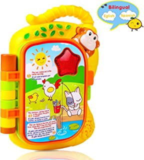 M SANMERSEN Musical Book Baby Toys, Early Education Colourful Monkey Flip Story Book Play Story