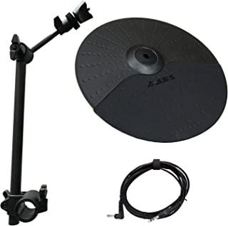 "Alesis Nitro Cymbal Expansion Set: 10 Inch Cymbal, Cymbal Arm, Rack Clamp and 10ft TRS Cable (10"" Cymbal - 13"" Arm)"