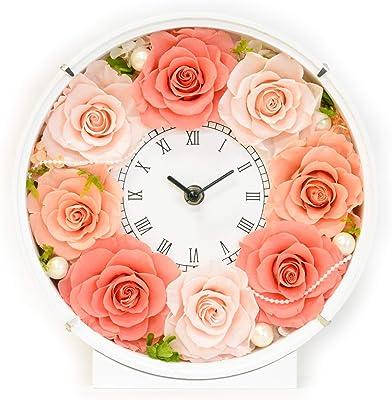 Lulu's ルルズ 花時計 マルーンピンク プリザーブドフラワー サイズ幅24cm長さ8cm高さ24cm マルーンピンク Lulu's-1351