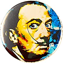 Salvador Dali Pin - Pinback button by Mark Lewis Art - am - hand signed collectible