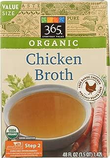 365 Everyday Value, Organic Chicken Broth, 48 fl oz