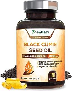 Black Seed Oil Capsules, 1000mg Premium Nigella Sativa Black Cumin Seed Oil, Non GMO, Vegetarian, Liquid Blackseed Oil Sup...