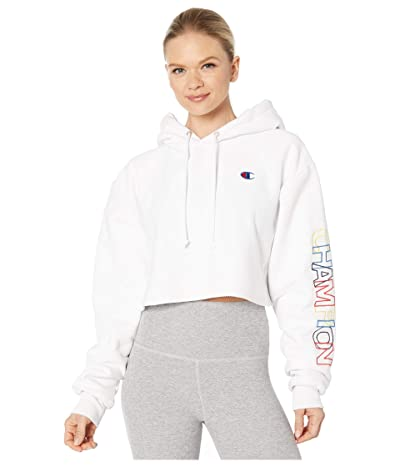 Champion LIFE Reverse Weave(r) Cropped Cutoffs Hoodie (White) Women