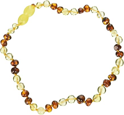 """Momma Goose Amber Teething Necklace - Baby Baroque Small, 11-11.5"""" Multi 1038S"""
