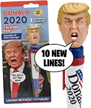 New Donald Trump 2020 Talking Pen, 10 New President Trump Sayings, Trump's Real Voice, Just Click & Listen, Funny Gifts fo...
