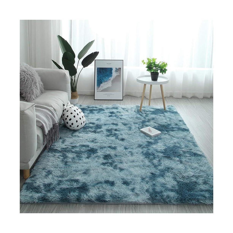 バドミントン伝染性のの前でHUCHAOQIXIU カーペット、リビングルームコーヒーテーブルベッドルームのフルカーペット、ベッドサイド毛布、フロアマット大面積 装飾 (Color : A, Size : 160*260cm)