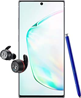 Samsung Galaxy Note 10+ Single SIM - 256GB, 12GB RAM, 5G, Aura Glow + JBL Under Armour True Wireless Flash Earphone
