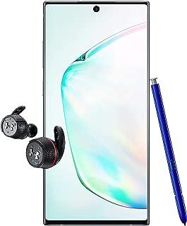 Samsung Galaxy Note 10+ Single SIM - 256GB, 12GB RAM, 5G, Aura Glow + JBL Under Armour True Wireless Flash Earphone