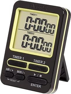 Taylor 5880 Dual Event Digital Timer w/Clock, (Black)