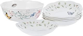 LENOX 091709537645 Butterfly Meadow174 7-piece Salad Set Serving Bowl, 9.1 lb, Multicolor