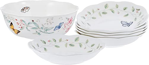 LENOX 091709537645 Butterfly Meadow174 7-piece Salad Set Serving Bowl, 9.1 lb, Multicolor