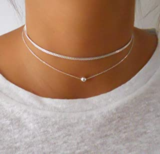 Handmade 925 Sterling Silver Set Of 2 Necklaces - Ball Necklace + Gourmet Choker Necklace