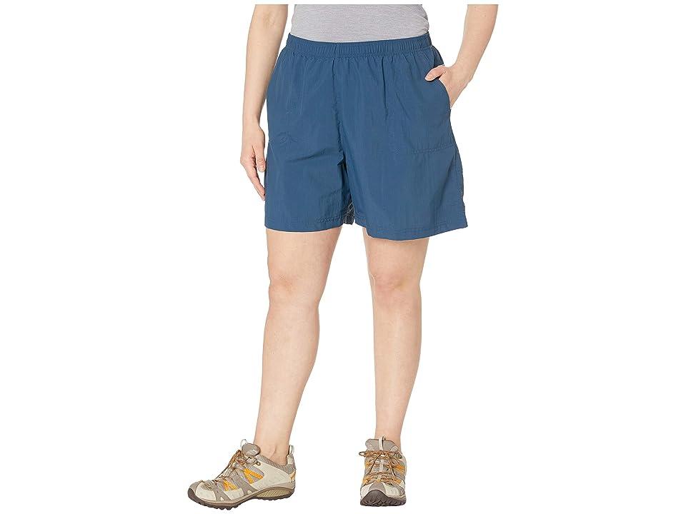 Columbia Plus Size Sandy Rivertm Short (Petrol Blue) Women