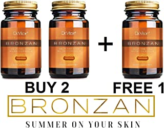 Dr.Viton BRONZAN-Tanning Pills -(nutritive formula for natural irresistible and intensive golden bronze tan all year round)-50% OFF (Buy 2 + Free 1)