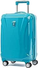 turquoise hardside luggage