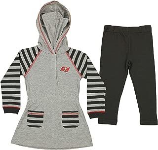 Outerstuff NFL Infant and Toddler Girls (12M-4T) Long Sleeve Hooded Dress and Legging Set, Team Variation