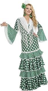 My Other Me Me-203855 Disfraz de flamenca giralda para mujer, Color verde,