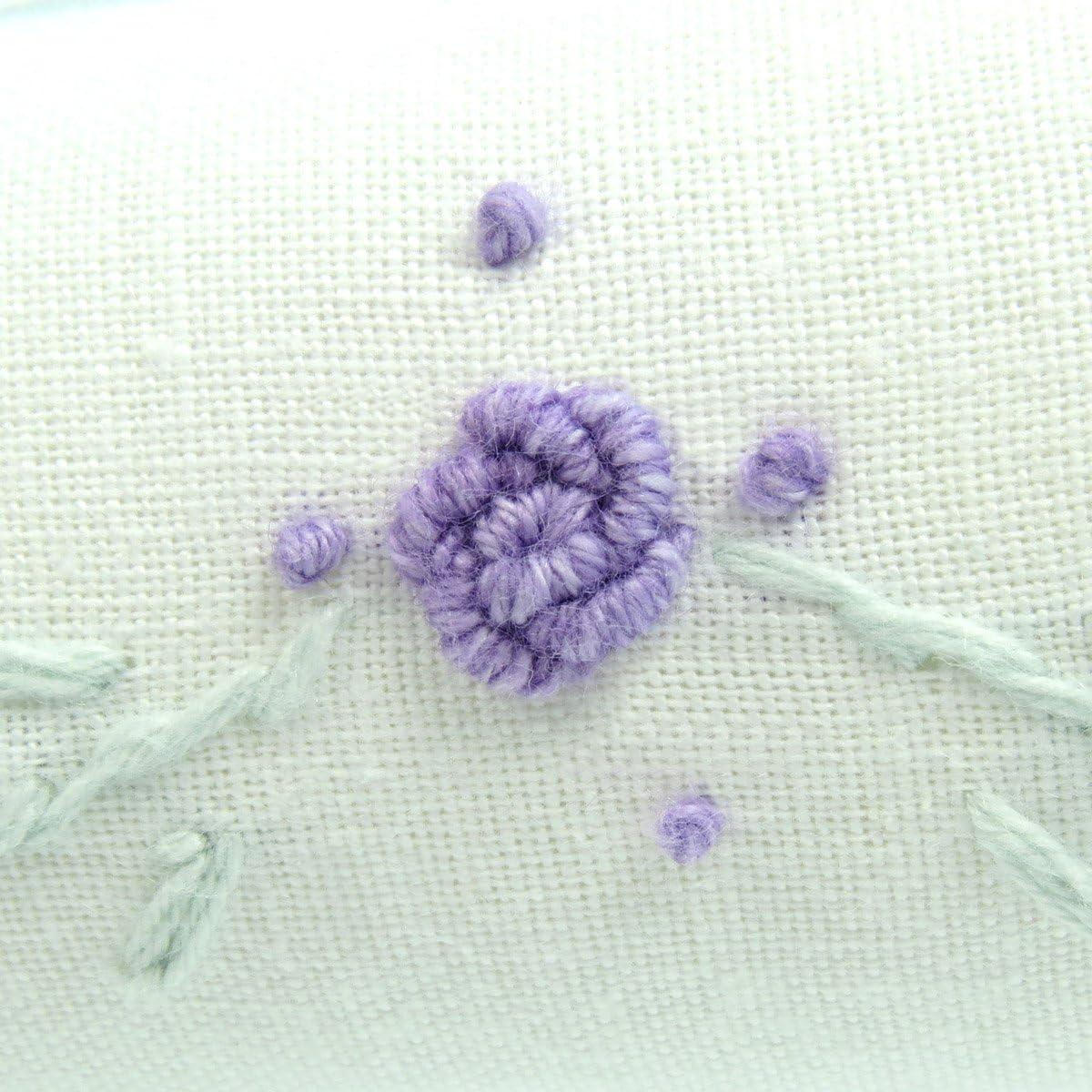 40 cm Hangerworld Juego de 3 Perchas Acolchadas de algod/ón para Abrigos dise/ño Bordado de Rosa Lila Color Blanco