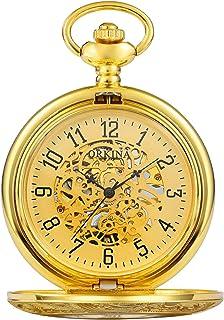 Pocket watch Montre de Poche - Motif Style rétro Beau Flip mécanique Montre de Poche Roman Creux sculpté Classique Montre ...
