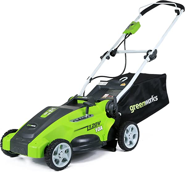 Greenworks 16 Inch 10 Amp Corded Electric Lawn Mower 25142