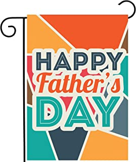"""ShineSnow Happy Fathers Day Love Best Great Dad Garden Yard Flag 12""""x 18"""" Double Sided Polyester Welcome House Flag Banners for Patio Lawn Outdoor Home Decor"""