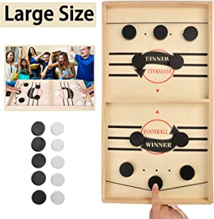 DTJTOOY Large Size Slingshot Board Game Fast Sling Puck Game Family Board Games Slingshot Board Games for Adults and Kids ...