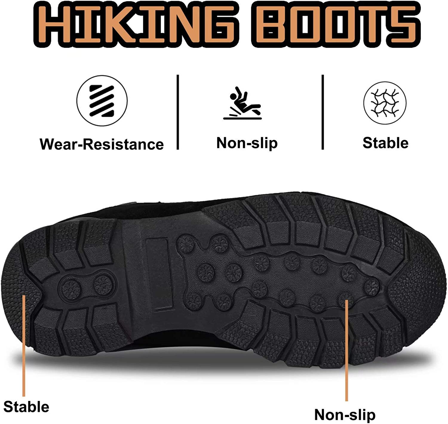 HARVEST LAND Mens Walking Boots Waterproof Walking Shoes Lightweight Breathable Ankle Boots for Outdoor Hiking /& Trekking
