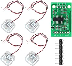 YOUMILE 4pcs DIY 110lbs 50KG Half-bridge Body Load Cell Weight Strain Sensor Resistance + HX711 AD Module