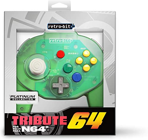 Retro-Bit Tribute 64 for Nintendo 64 - Vert (Forest Green)