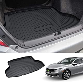 Powerty Trunk Mat All Weather TPO Rear Cargo Liner for Honda Civic Sedan 2016-2020(Not Fit for 2-Doors Models,Not Fit for ...