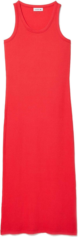 Lacoste Women's Sleeveless Ribbed Dress