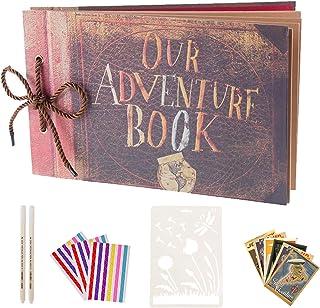 AIOR Album Photo Scrapbooking Our Adventure Book, Traditionnel DIY Scrapbook, Scrapbooking à Decorer Livre d'or, Cadeau Or...