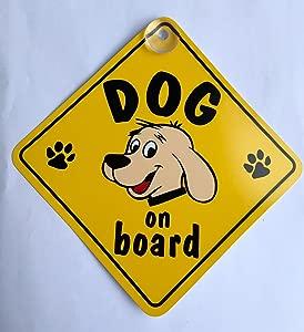 Dog Board Suction Cup Safety Fun Car Motor Vehicle Display Window Badge Sign