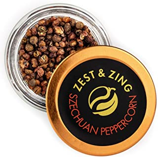 Zest & Zing Pimienta De Szechuan (Molida), Tarro De Especias De 12 G - Especias Premium De Zest & Zing. Tarros De Especias...