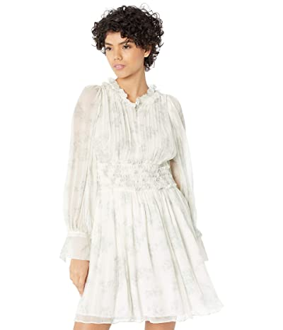 Rebecca Taylor Long Sleeve Toile Ruched Dress Women