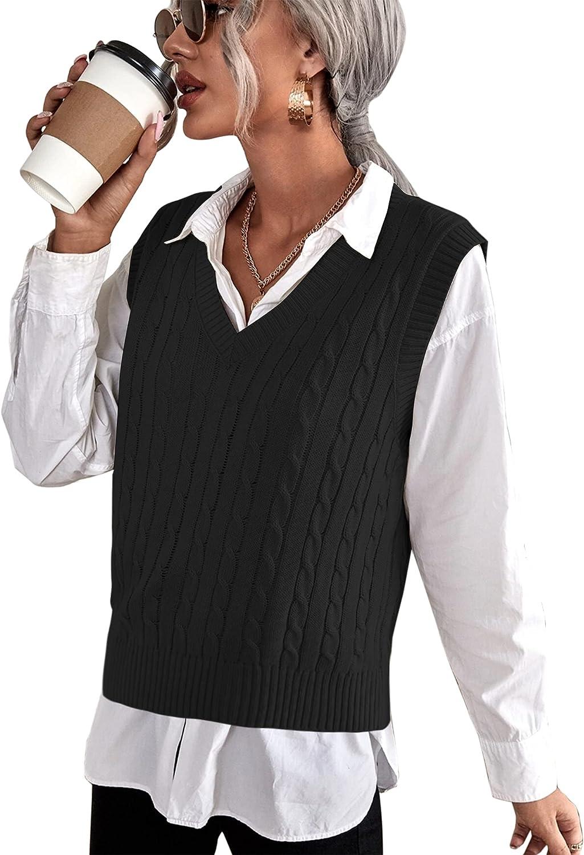 ELESOL National uniform free Genuine Free Shipping shipping Sweater Vest Womens Sleeveless V Neck Sweate Knit
