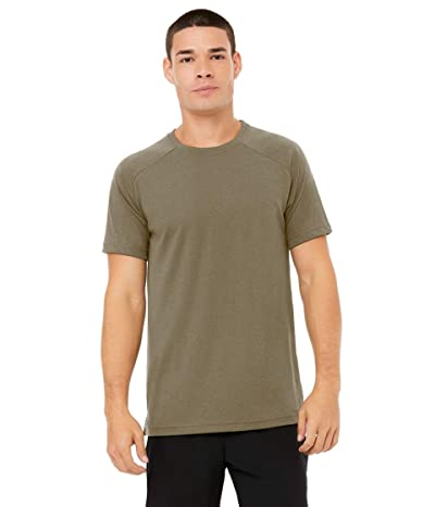 ALO The Triumph Crew Neck Tee (Olive Branch) Men